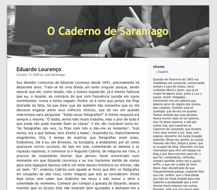 Jose Saramago on WordPress.com