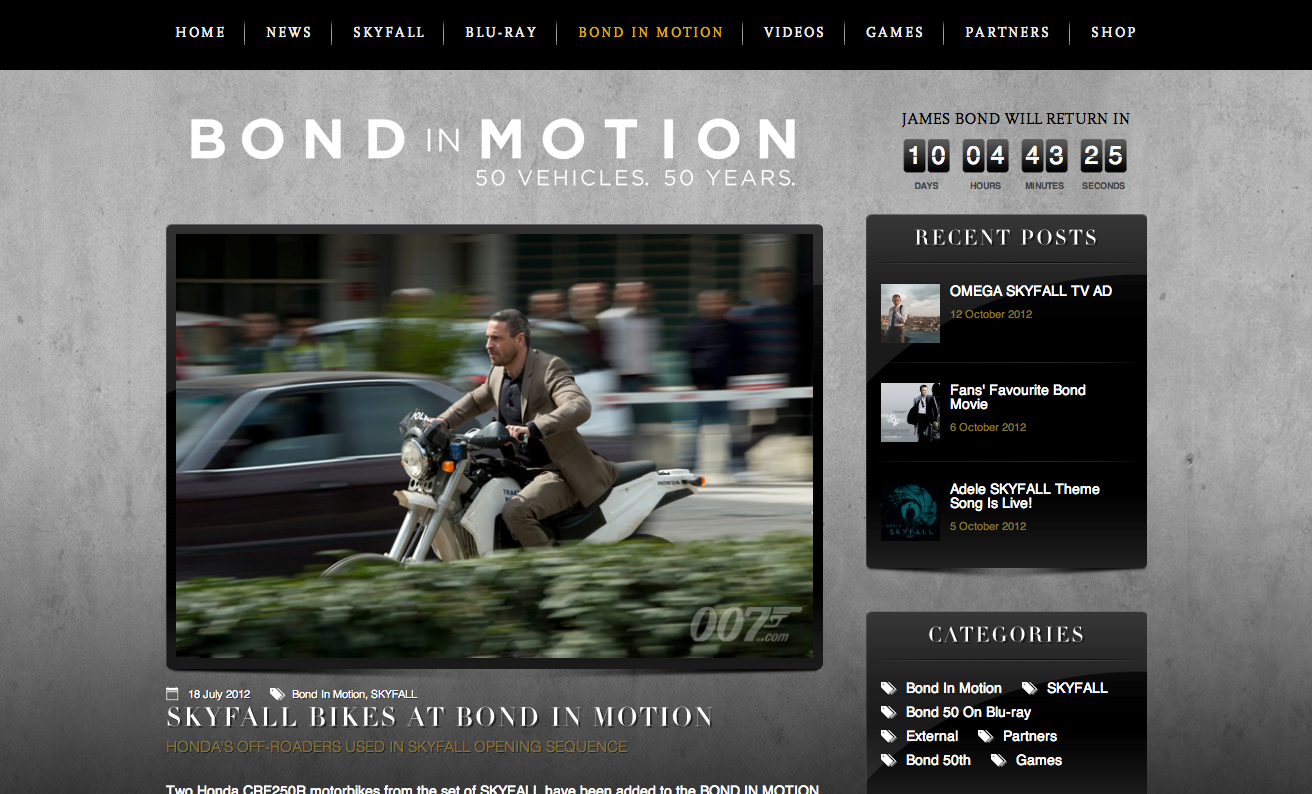 cb640745368 The Official James Bond site 007.com is on WordPress – Enterprise ...