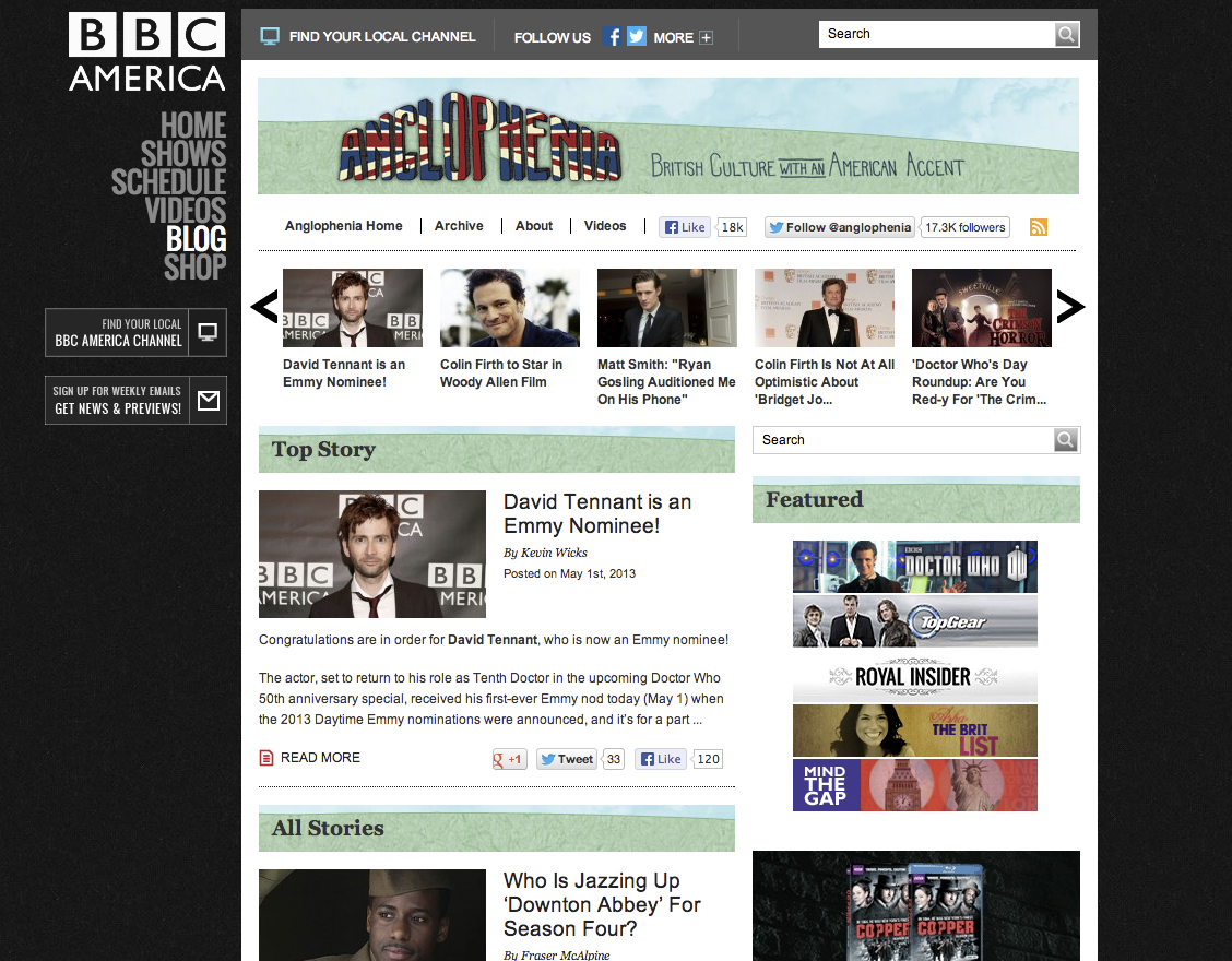 Anglophenia   British Culture with an American Accent   BBC America
