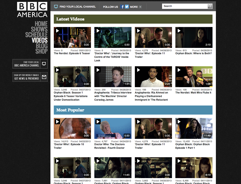 BBC America - Videos