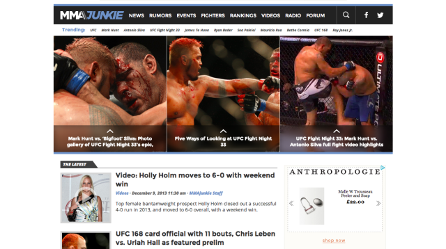 MMAjunkie | UFC and MMA news, rumors, live blogs and videos