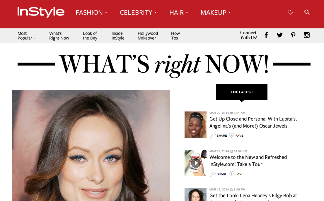 InStyle What's Right Now