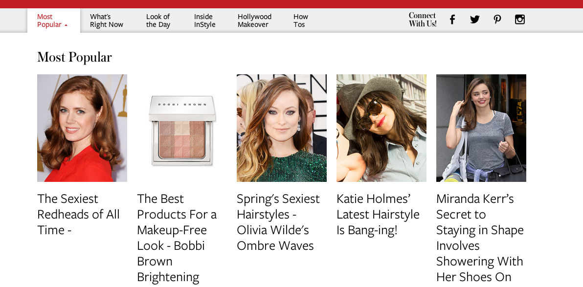 What's Popular on InStyle What's Right now