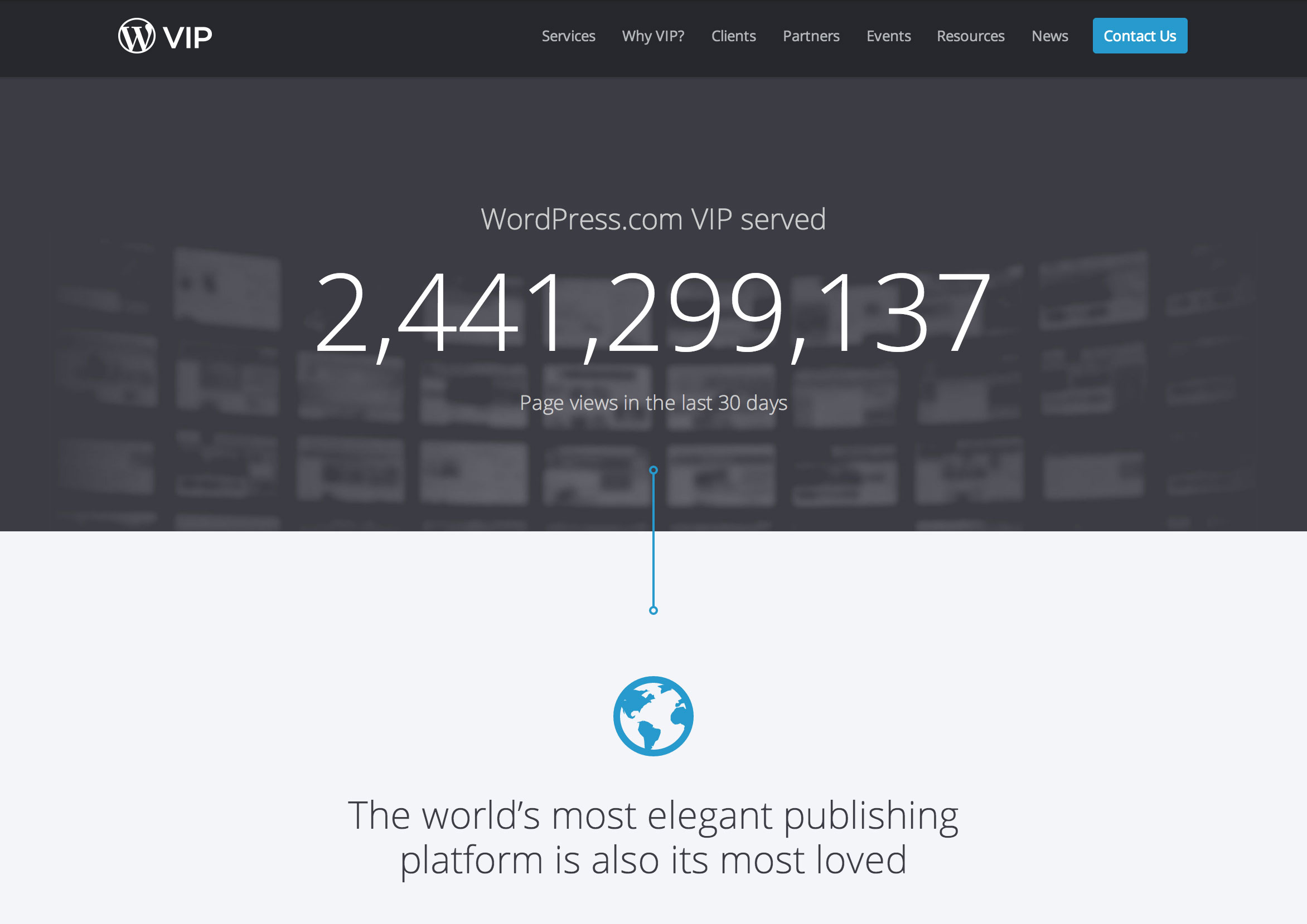 WordPress.com VIP Statistics page