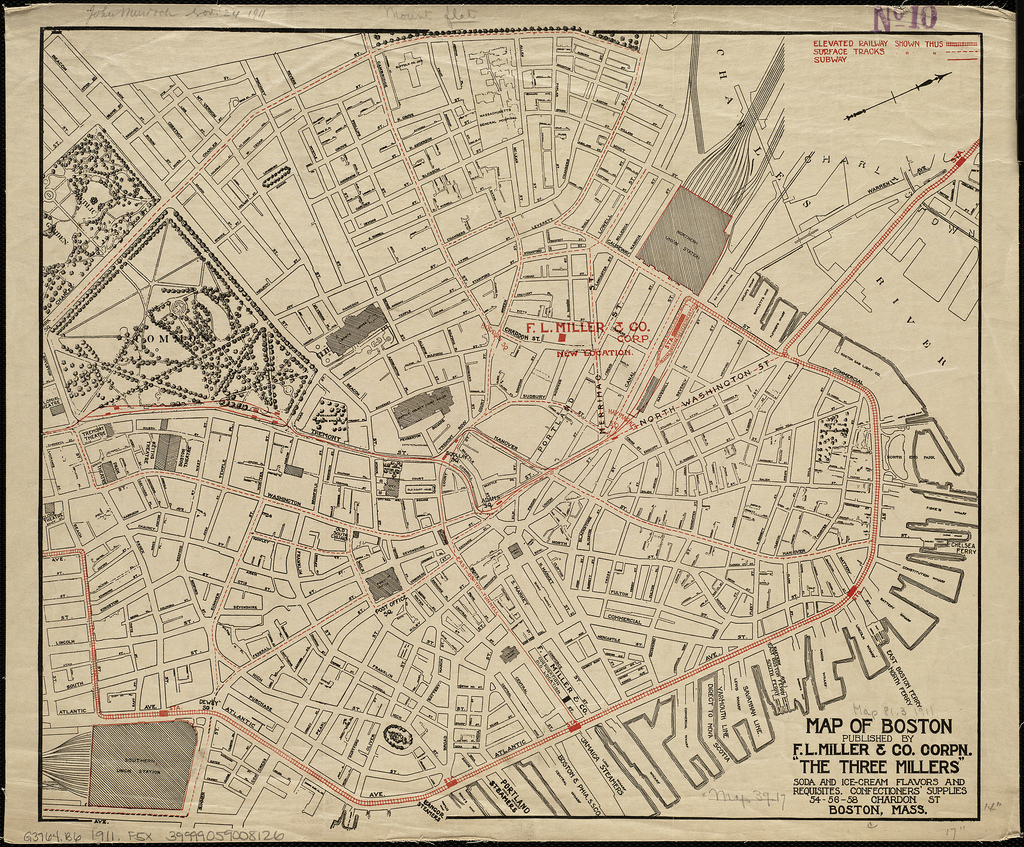 Map of Boston by Norman B. Leventhal Map Center at the BPL