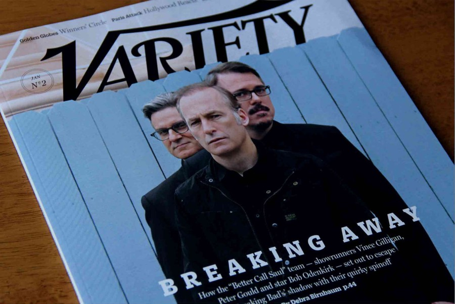 print cover of Variety magazine