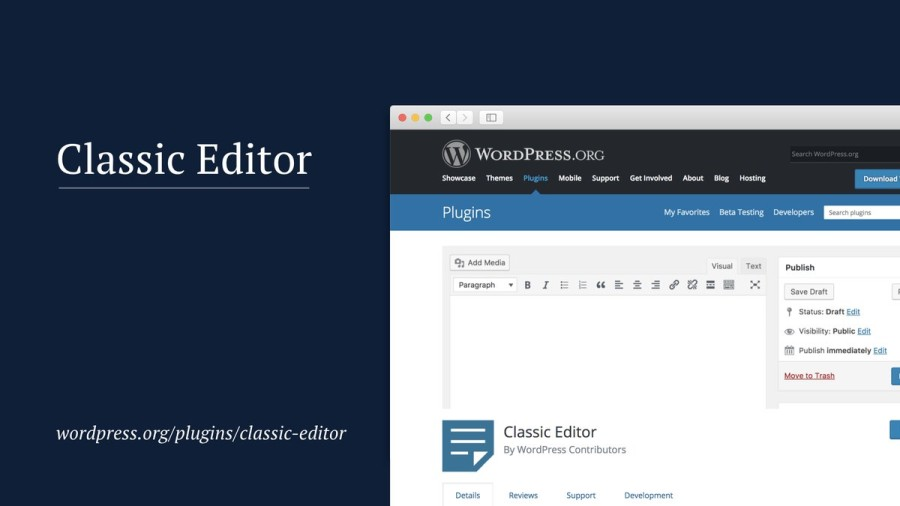 The Classic Editor plugin