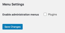 Enable administration menus: Plugins