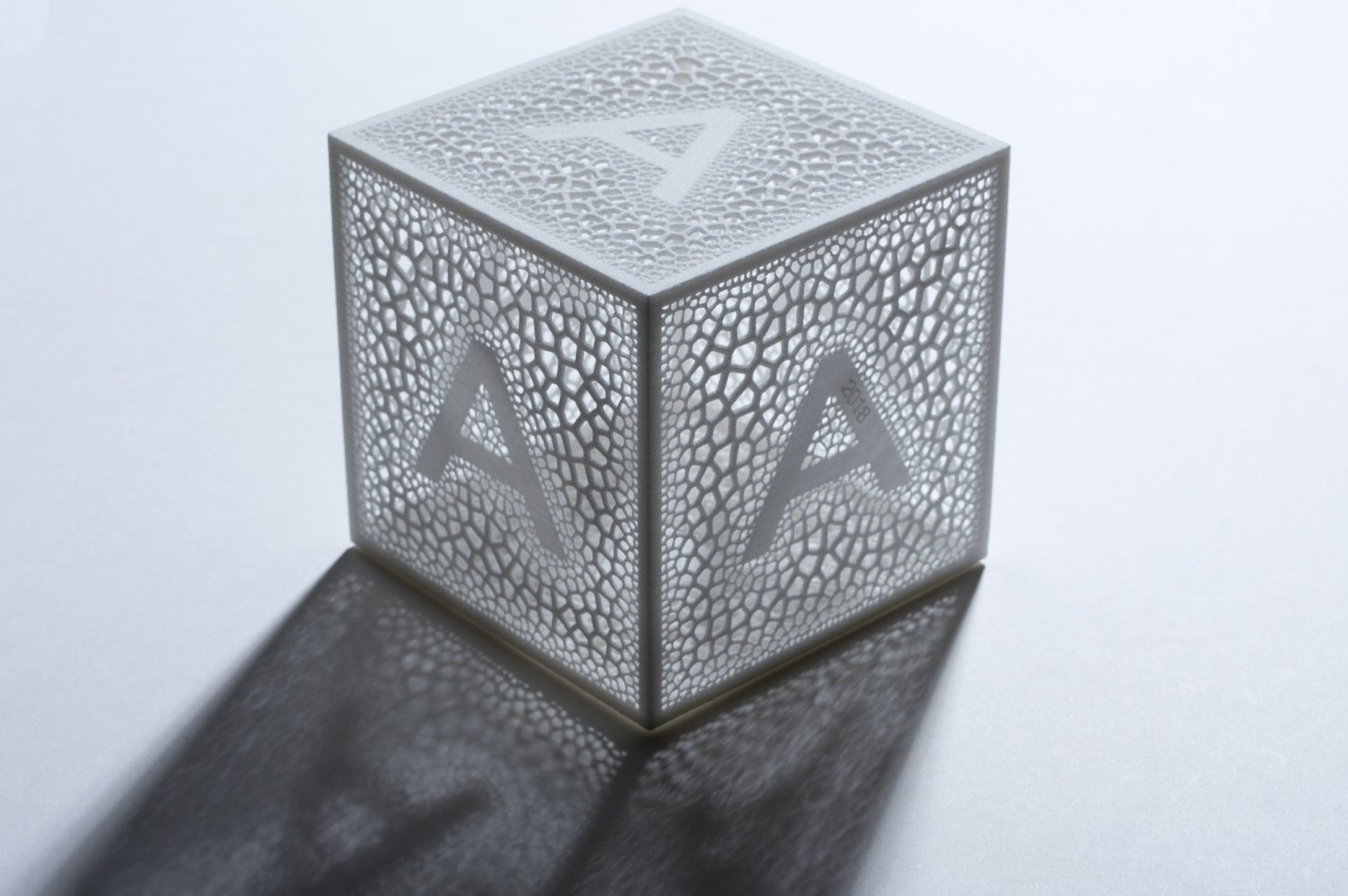 A beautiful translucent cube with rich organic texture