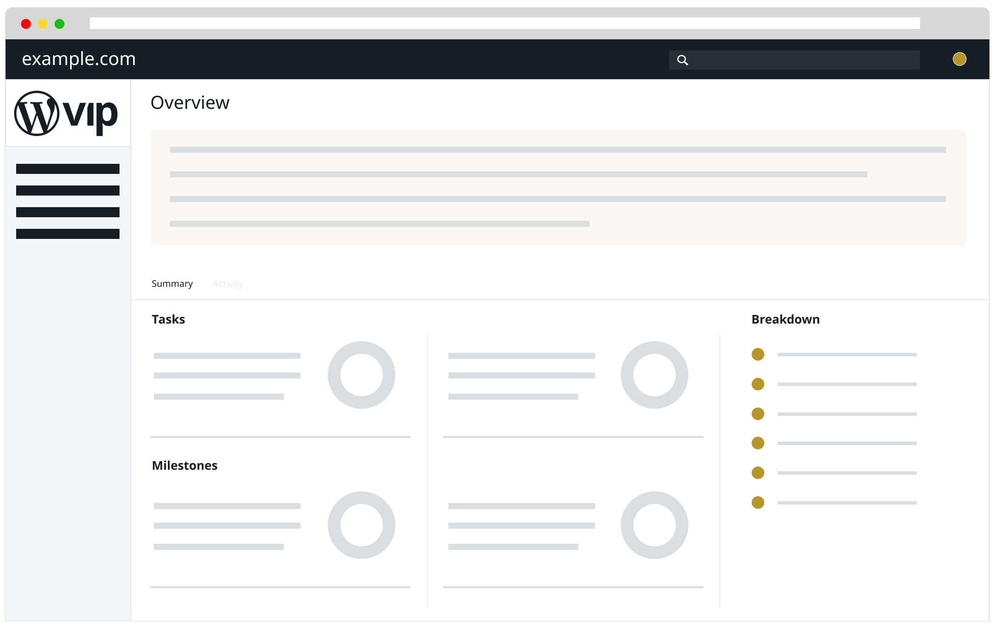 Teamwork Projects Overview tab