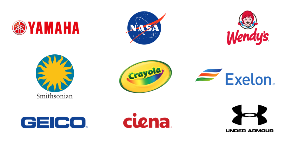 mindgrub clients: yamaha, nasa, wendy's, smithsonian, crayola, exelon, geico, ciena, under armor