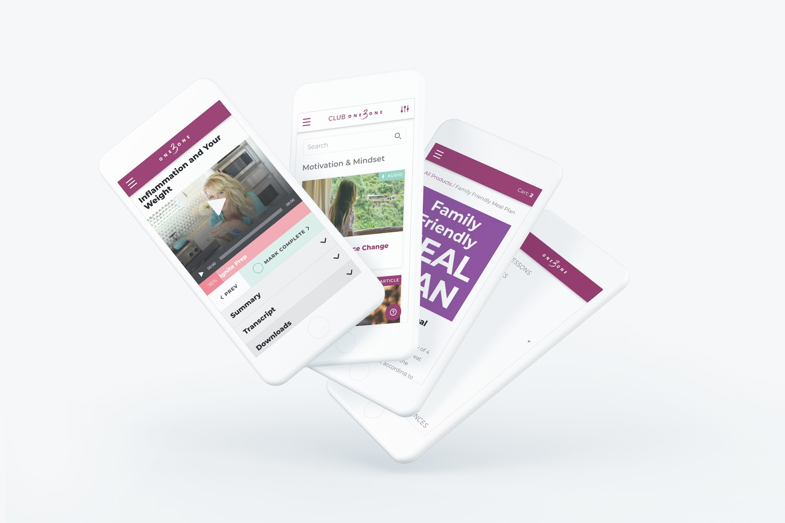a rendering of screenshots from an app designed by rareview.