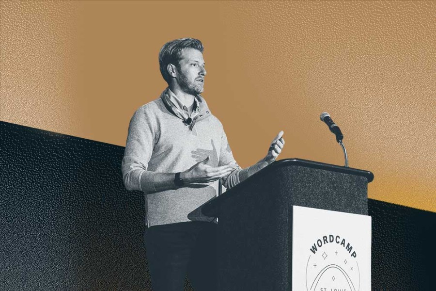 WordPress VIP CEO Nick Gernert speaking at WordCamp US 2019 in St. Louis