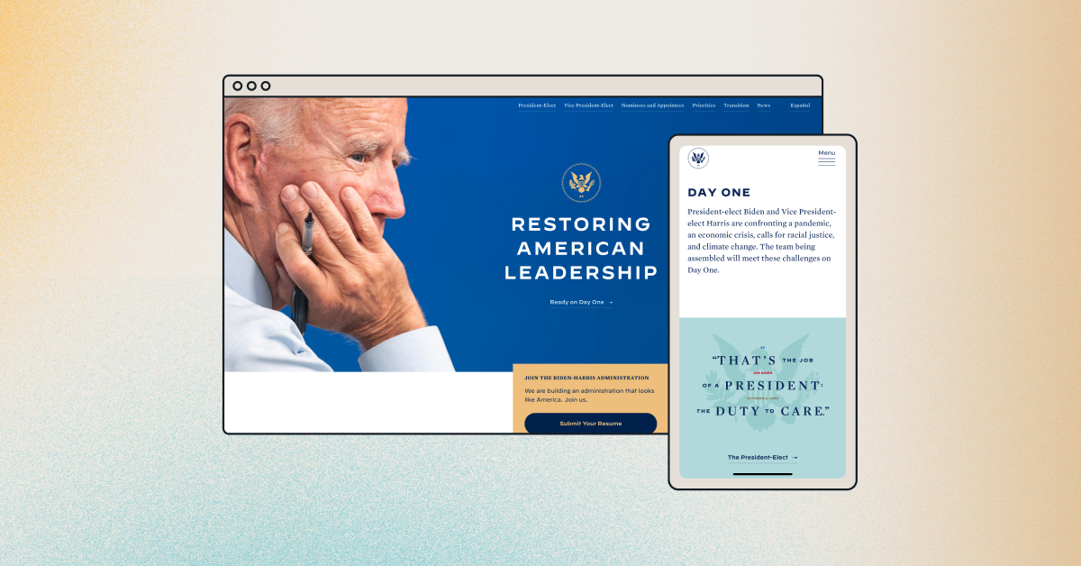 Biden-Harris transition website