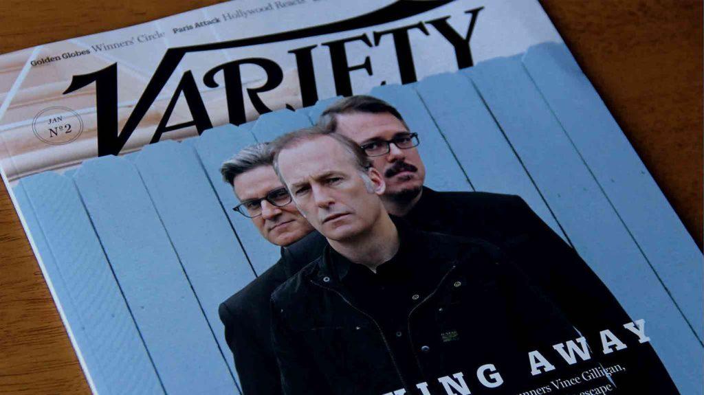 print cover of Variety magazine