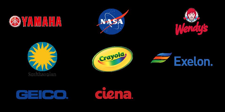mindgrub clients: yamaha, nasa, wendy's, smithsonian, crayola, exelon, geico, ciena, under armor